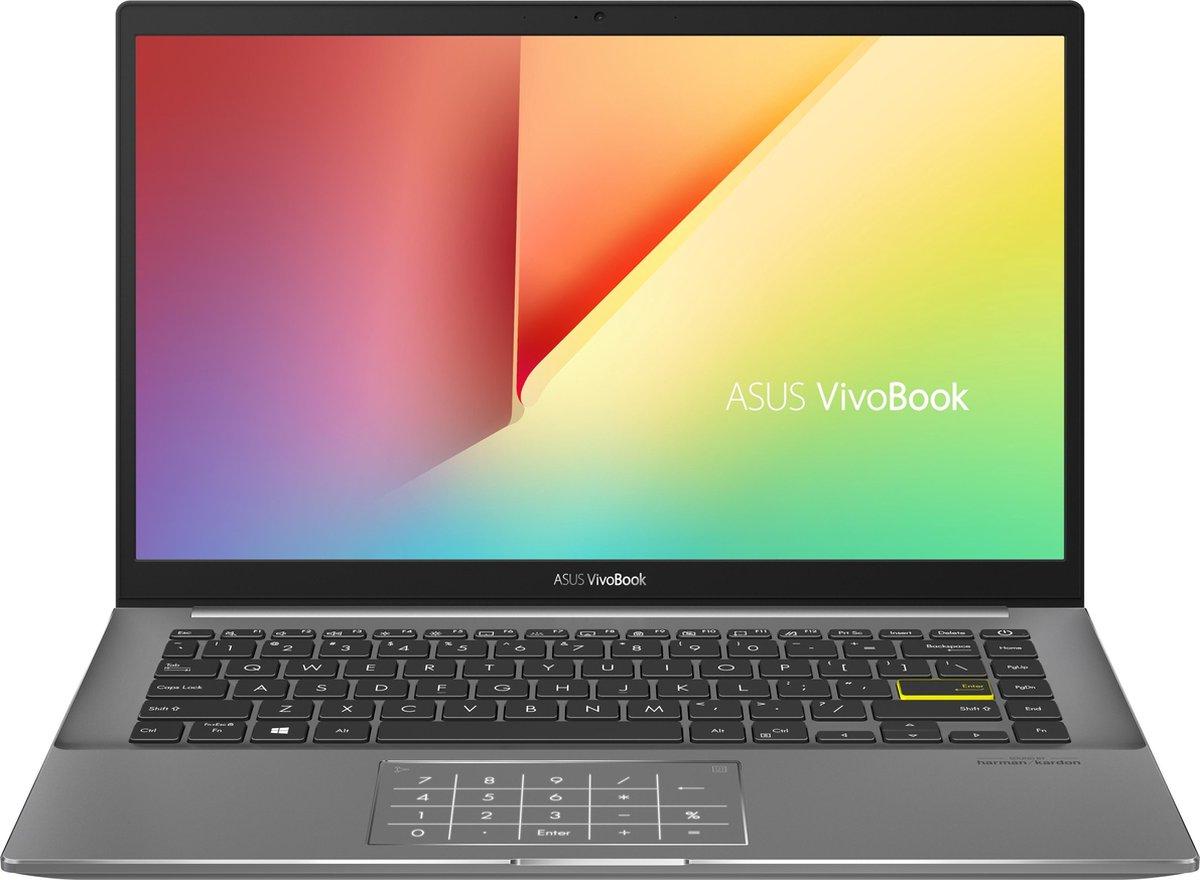 "ASUS VivoBook S14 S433EA-AM214T DDR4-SDRAM Notebook 35,6 cm (14"") 1920 x 1080 Pixels Intel® 11de generatie Core™ i5 8 GB 512 GB SSD Wi-Fi 6 (802.11ax) Windows 10 Home Zwart"