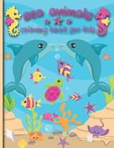 Sea Animal Coloring Book For Kids