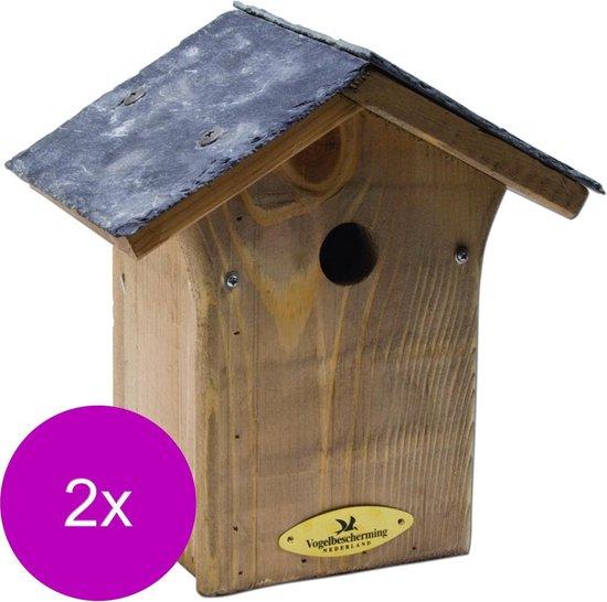 Wildbird Nestkast Mees Leien Dak 28mm - Broeden - 2 x stuks