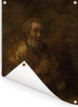 Homerus - Schilderij van Rembrandt van Rijn Tuinposter 30x40 cm - klein - Tuindoek / Buitencanvas / Schilderijen voor buiten (tuin decoratie)