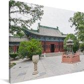 Tempel in Zhengzhou Canvas 40x30 cm - klein - Foto print op Canvas schilderij (Wanddecoratie woonkamer / slaapkamer) / Aziatische steden Canvas Schilderijen