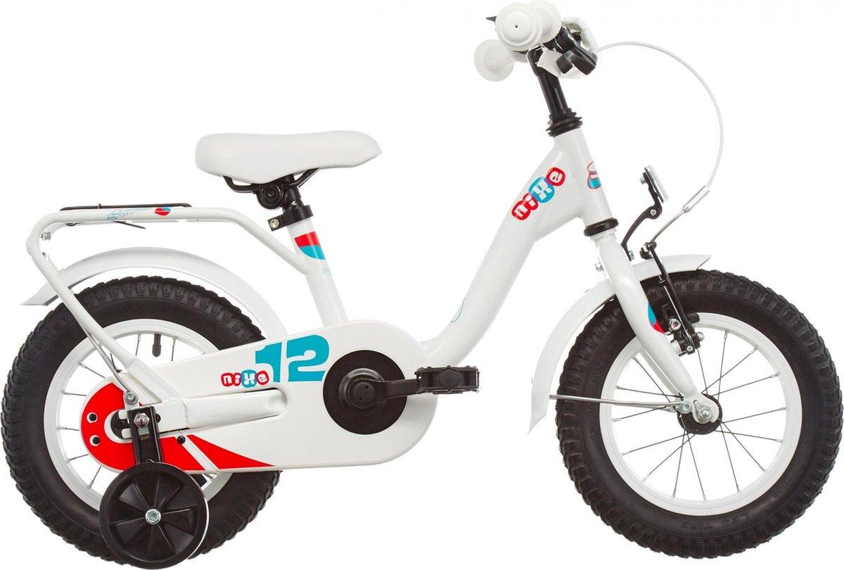 S'cool Kinderfiets 12 inch  niXe steel 12 white/blue/red online kopen