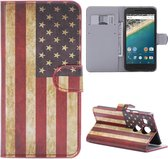 LG Nexus 5X Booktype Hoesje Amerikaanse Vlag