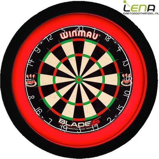 LENA Dartbord Verlichting Deluxe (Rood - Zwart)