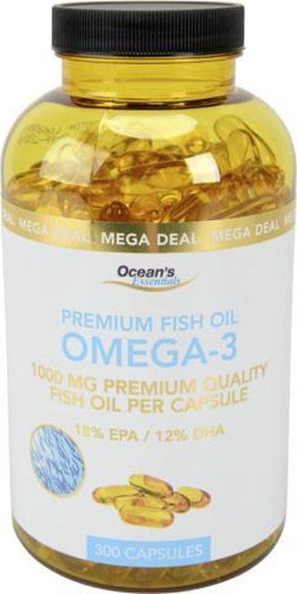 omega 3 - vis olie - 18% EPA / 12% DHA - 300 capsules