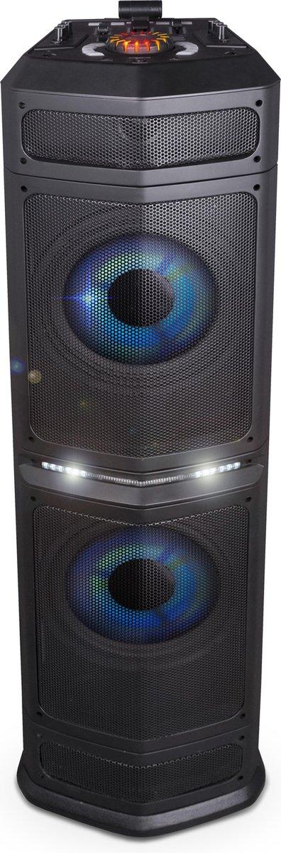 Noonday DJ Party Speaker Tower XXL Slim | Bluetooth Speaker | Party mixer geluidseffecten