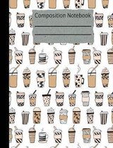 Coffee Composition Notebook - Wide Ruled