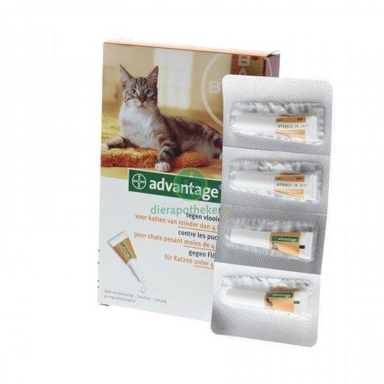 Advantage 40 Vlooiendruppels Kat tot 4 kg - 4 Pipetten - Advantage