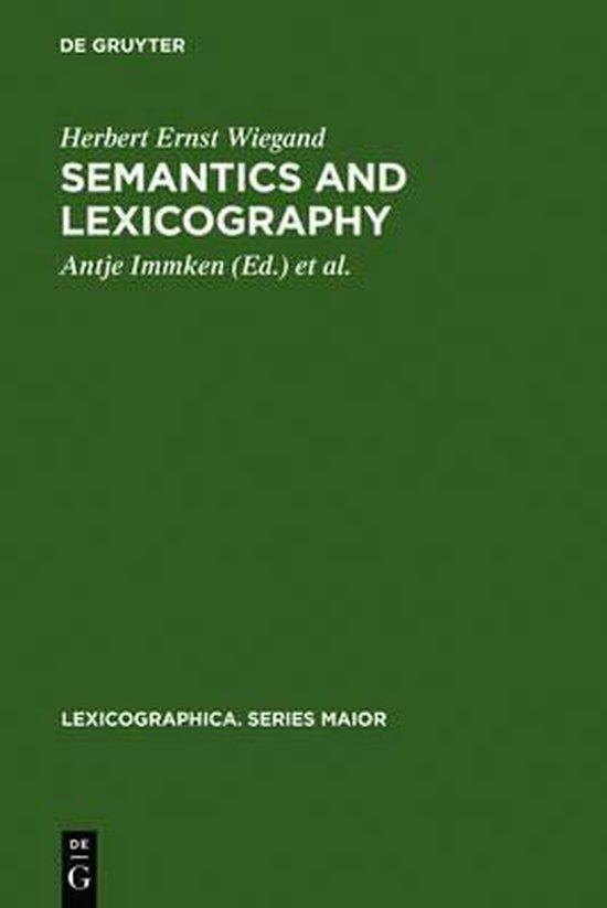 Semantics and Lexicography