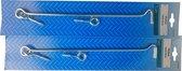 2x STARX windhaak met schroefoog, verzinkt, 300 mm
