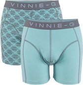 Vinnie-G boxershorts Mint Light - Print 2-Pack-L