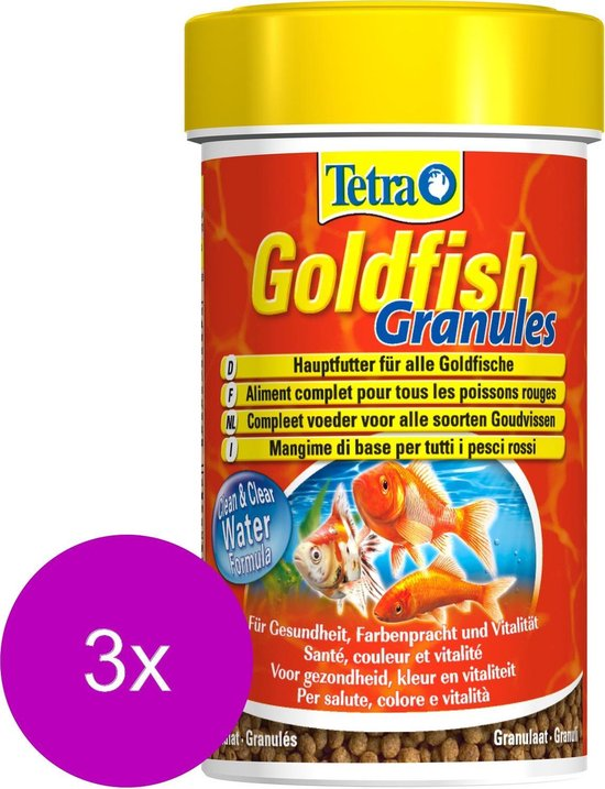 Tetra Visvoer Goldfish Granules - Vissenvoer - 3 x 100 ml