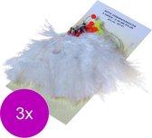 Albatros Verenpaternoster 6 Haaks - Onderlijnen - 3 x 115 cm Wit per stuk Zeevis 1/0