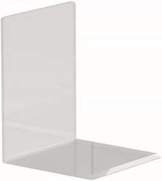 Maul Boekensteunen Acryl, 1 paar, 10 x 10 x 13 cm transparant