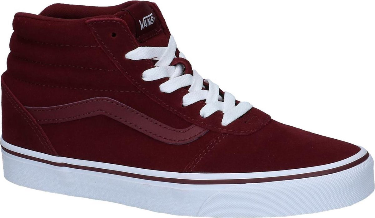 Vans - Ward Hi - Skate hoog - Dames - Maat 36 - Bordeaux - Port Royale Suede