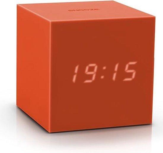 Gravity Click Clock wekker oranje