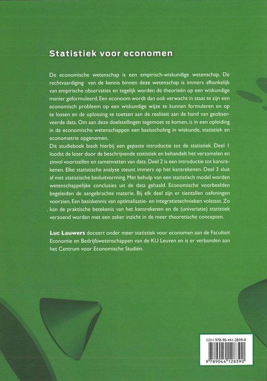 Statistiek voor economen - Luc Lauwers |