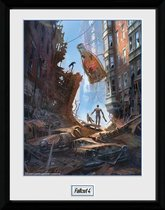 FALLOUT 4 - Collector Print 30X40 - Street Scene