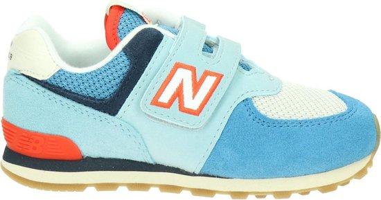 New Balance 574 kinder klittenbandschoen. - Blauw multi - Maat 29