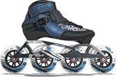 Cádomotus Rookie Two - Halfhoge Stabiele Skeelers voor Kinderen en Dames - Hoogwaardige Skates Geschikt voor Wedstrijden - met 2-in-1 Set-Up: Geschikt voor 4 Kleine of 3 Grote Wielen - Maat 38
