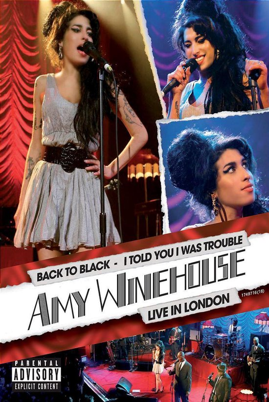 Cover van de film 'Amy Winehouse - I Told You I Was Trouble - Live'