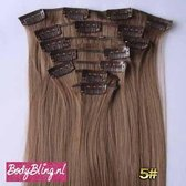 Clip in hair extensions 7 set straight bruin - 8#