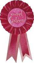 Haza Original Rozet ''sweet Sixteen'' Roze 8 X 14,5 Cm