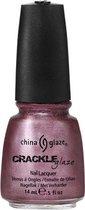 China Glaze Crackle Nagellak - Haute Metal