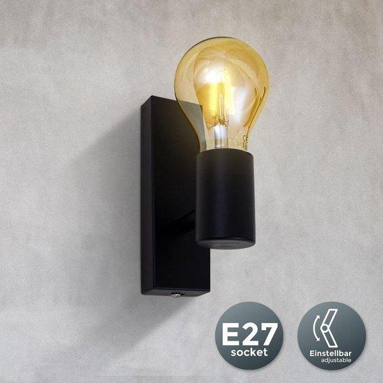 Bol Com B K Licht Wandlamp Binnen Industrieel Retro Zwart Wandspot Draaibare En