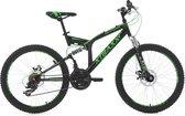 "Ks Cycling Fiets KS Cycling fiets mountainbike 24"" XTRAXX zwart-groen - 43 cm"