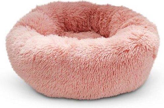 Snoozle Hondenmand - Superzacht en Luxe - Wasbaar - Donut - Fluffy - Hondenkussen - 50cm - Roze