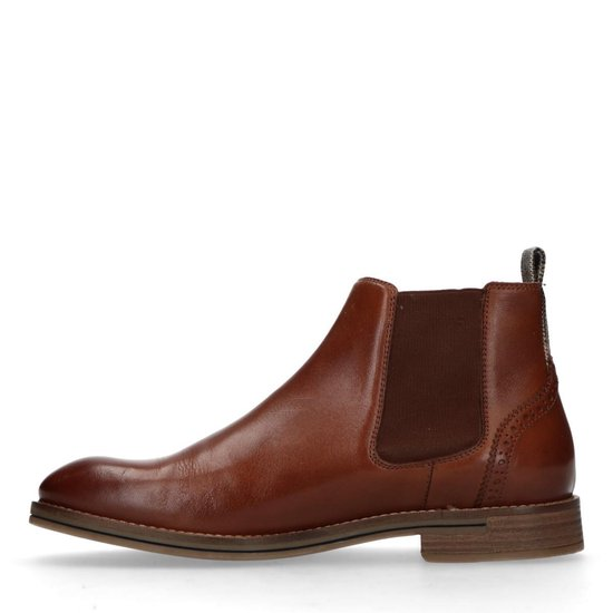 Sacha Heren Bruine leren chelsea boots Maat 43