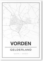 Poster/plattegrond VORDEN - 30x40cm