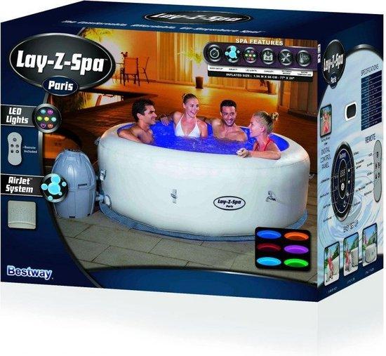 Lay-Z-Spa Paris Jacuzzi BESTWAY met Freeze Shield Nieuw Model 2021