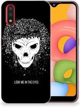 Silicone Back Case Samsung Galaxy A01 Skull Hair