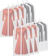 10 x Transparante Kledinghoes - 60 x 120 cm - Ritssluiting - Kledingzakken - Opbergtas Kleding - E-Shoppr®