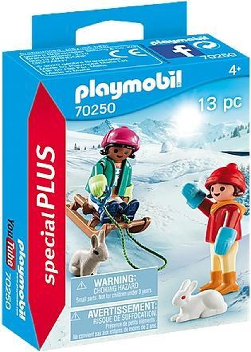 PLAYMOBIL Special Plus Kinderen met slee - 70250