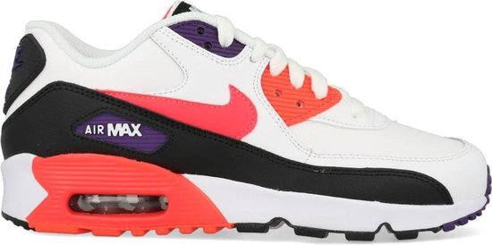 | Nike Air Max 90 Leather GS Wit Zwart Rood