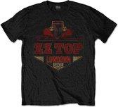 ZZ Top Heren Tshirt -L- Lowdown Zwart