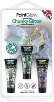 Chunky Glitter Face & Body Gel Mermaid Mist (Blister Set)