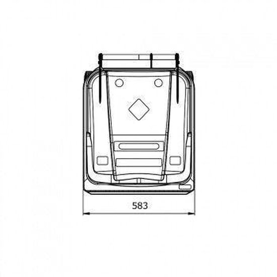 Kliko Kunststof Afval Rolcontainer Mini container - 240 l - Blauw