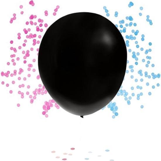 Gender Reveal Ballon - 82cm - Jongen - Meisje - Inclusief Confetti