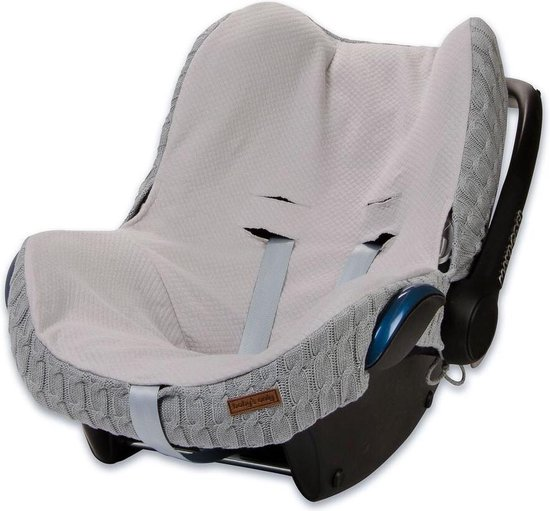 Baby's Only hoes autostoel Maxi Cosi kabel teddy lichtgrijs
