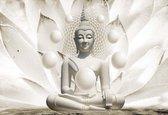 Fotobehang Buddha Zen Spheres Flower 3D | XXXL - 416cm x 254cm | 130g/m2 Vlies