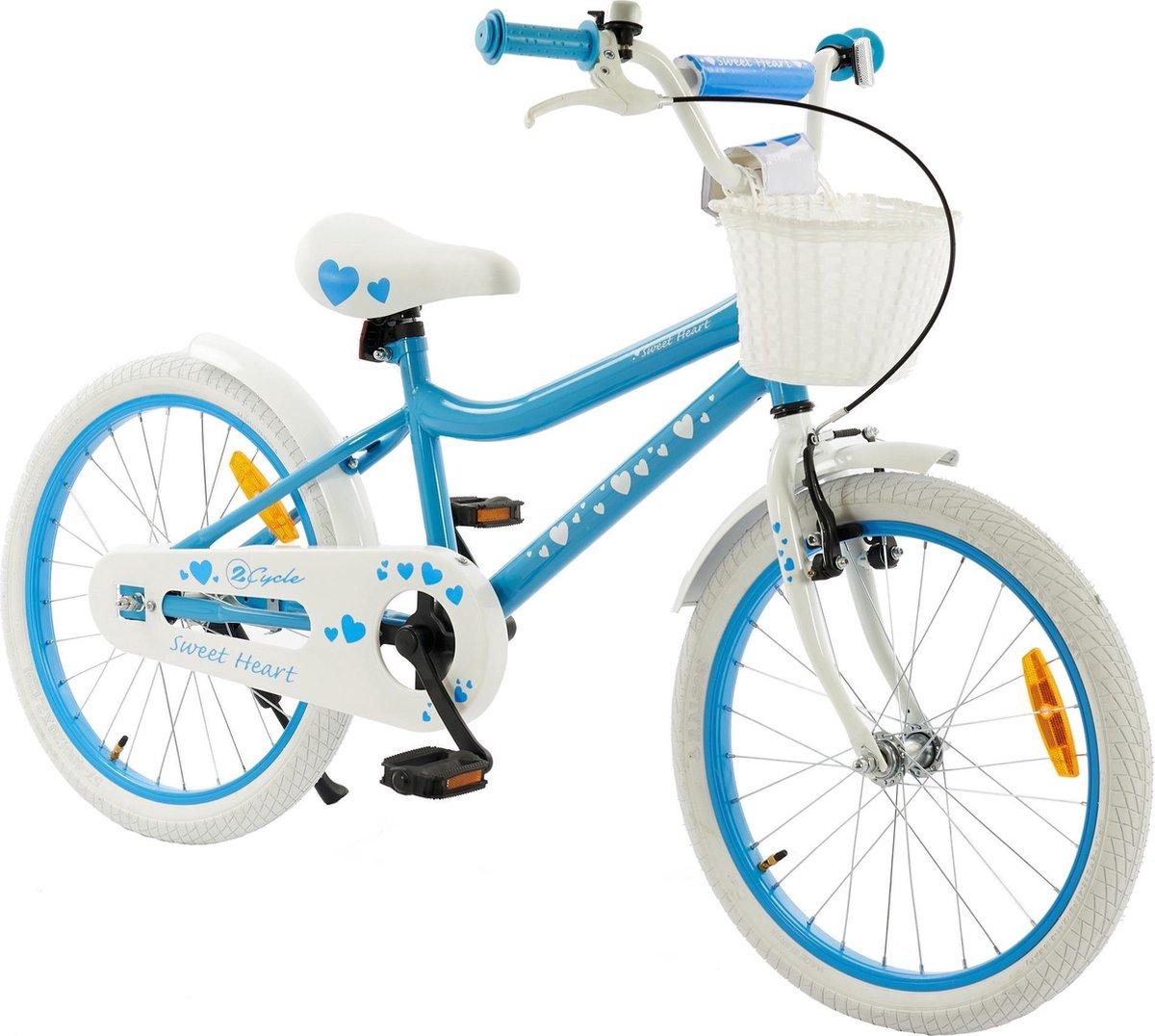 2Cycle Sweet Kinderfiets - 20 inch - Blauw - Meisjesfiets