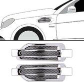 2 STKS Auto-Styling Willekeurige Decoratieve Sticker (Zilver)
