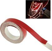 Auto decoratie reflecterende tape, Afmetingen: 1 cm x 18 m (rood)