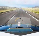 Universele mobiele GPS HUD head-up display Auto telefoonhouder iPhone, Samsung, LG, Nokia, HTC, Xiaomi, Sony, Huawei smartphones (blauw)
