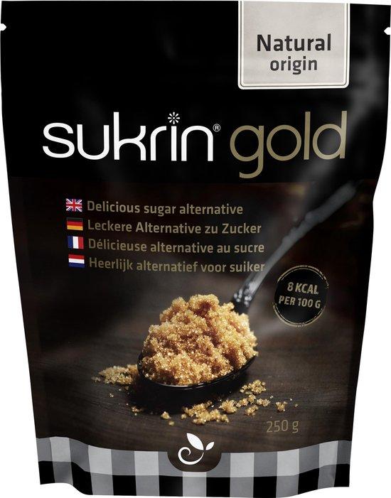 Sukrin Gold (500g) - Bevat Erythritol - 100% natuurlijk alternatief voor bruine suiker - Smaakt hetzelfde