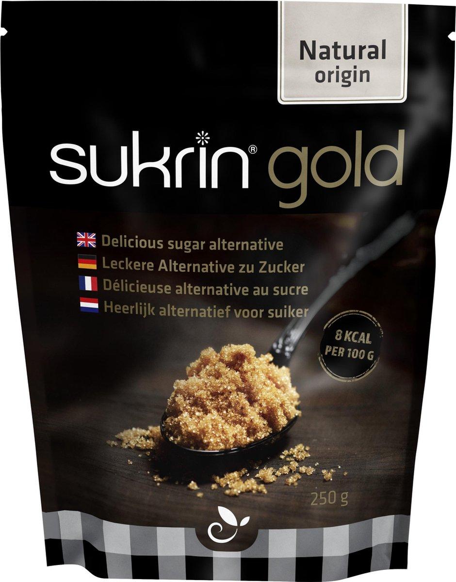 Sukrin Gold (500g) - Bevat Erythritol - 100% natuurlijk alternatief voor bruine suiker - Smaakt hetz